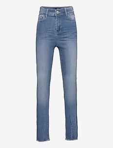 NLFPIL DNMBATEJAS 2455 HW ANCLE PANT - jeans - medium blue denim