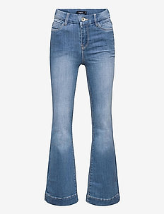NLFPIL DNMATEJAS 2455 HW BOOT PANT NOOS - boot cut jeans - medium blue denim