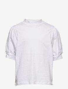 NLFFUFF BALLON SHORT TOP - t-shirts - bright white