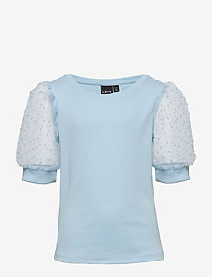NLFHIDA BALLON SHORT S TOP - chemisiers & tuniques - dream blue
