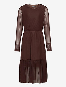 NLFRESH LS DRESS - kleider - chestnut