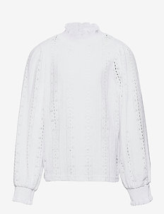 NLFFLACE LS TURTLENECK TOP - chemisiers & tuniques - bright white