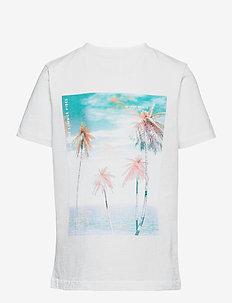 NLMHYE SS R TOP BOX - t-shirts - bright white