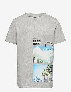 NLMHYE SS R TOP BOX - t-shirts - light grey melange