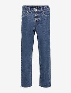 NLFRAVEN DNMIZZA HW ANKLE  PANT - dżinsy - medium blue denim