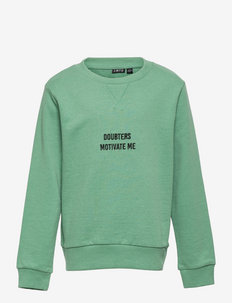 NLMKASPER LS O-NECK SWEAT - sweatshirts - frosty spruce