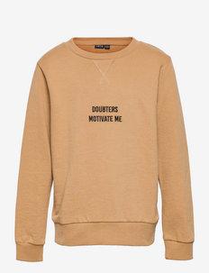 NLMKASPER LS O-NECK SWEAT - sweatshirts - iced coffee