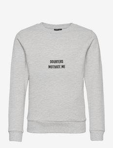 NLMKASPER LS O-NECK SWEAT - sweatshirts - light grey melange