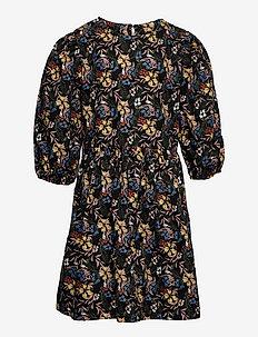 NLFLULUCA 3/4 DRESS - kleider - black