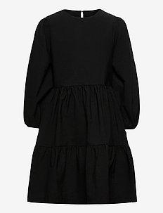 NLFDALUCA 3/4 DRESS - klänningar - black