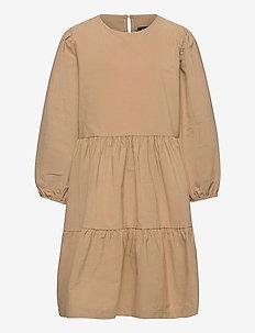 NLFDALUCA 3/4 DRESS - dresses - travertine