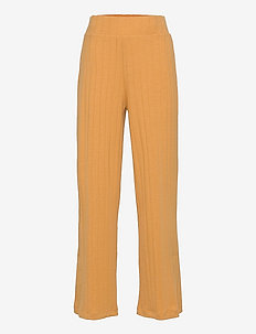 NLFDUNNE SLIT  PANT - trousers - amber gold