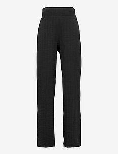 NLFDUNNE SLIT  PANT - trousers - black