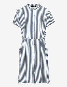 NLFJALONE SS DRESS - kleider - ashley blue