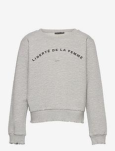 NLFKARIS LS SWEAT - sweatshirts - light grey melange