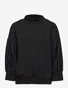 NLFSELUC  SHORT SWEAT - bluzy - black