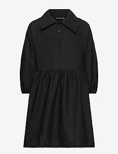 NLFREGITZE 3/4 DRESS - dresses - black