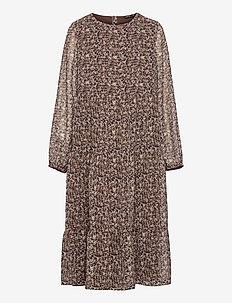 NLFJINET LS LONG DRESS - kleider - chestnut
