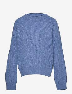 NLFLULJA LS SHORT KNIT - strickmode - dutch blue