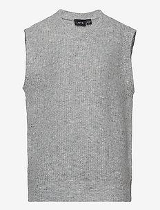 NLFMALLEN  KNIT VEST - vests - grey melange