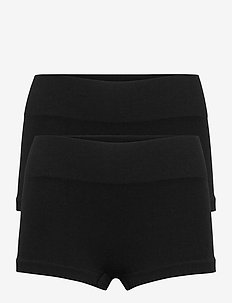 NLFHAILEY RIB HIPSTER 2PACK - shorts - black