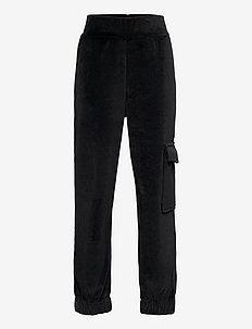 NLFNETTE VELVET PANT - trousers - black
