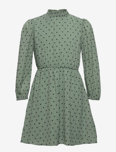 NLFRINCDOT LS DRESS - dresses - iceberg green
