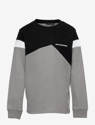 NLMLASSE LS R TOP - sweatshirts - sharkskin