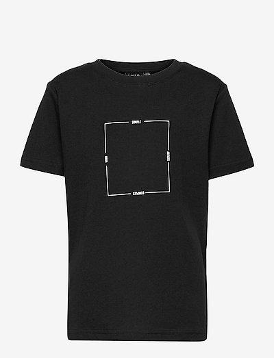 NLMLEONARD SS R TOP BOX - t-shirts - black
