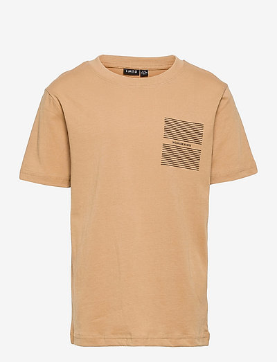 NLMLEONARD SS R TOP BOX - t-shirts - iced coffee