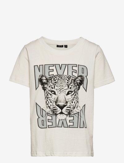 NLFOLEOS SS SHORT R TOP - t-shirts - white alyssum