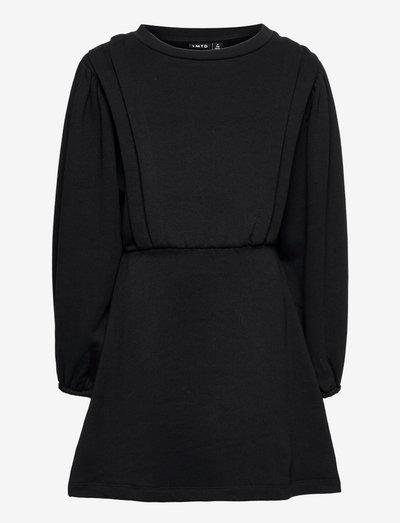 NLFOANA LS SWEAT DRESS - jurken & rokjes - black