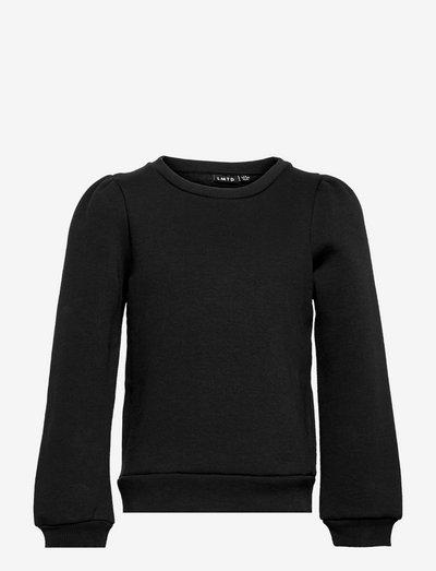 NLFOPAL LS SHORT PUFF SWEAT - sweatshirts - black