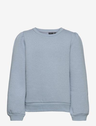 NLFOPAL LS SHORT PUFF SWEAT - sweatshirts - dusty blue