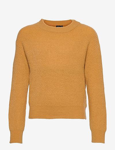 NLFLULJA LS SHORT KNIT - pullover - amber gold