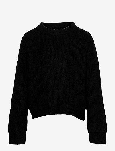NLFLULJA LS SHORT KNIT - pullover - black