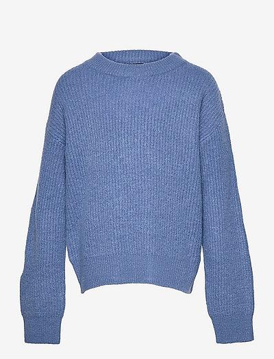 NLFLULJA LS SHORT KNIT - pullover - dutch blue