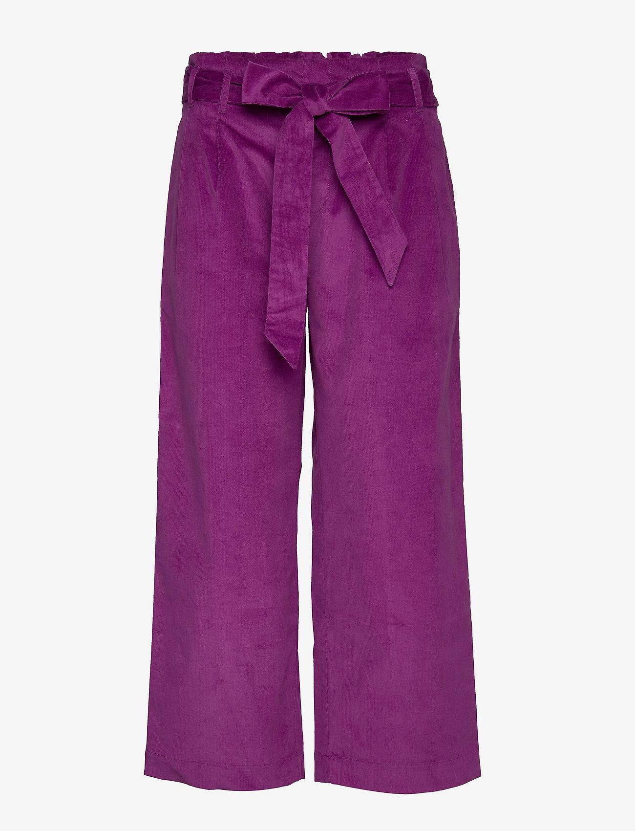 Lollys Laundry - Aila Pants - bukser med brede ben - purple - 0