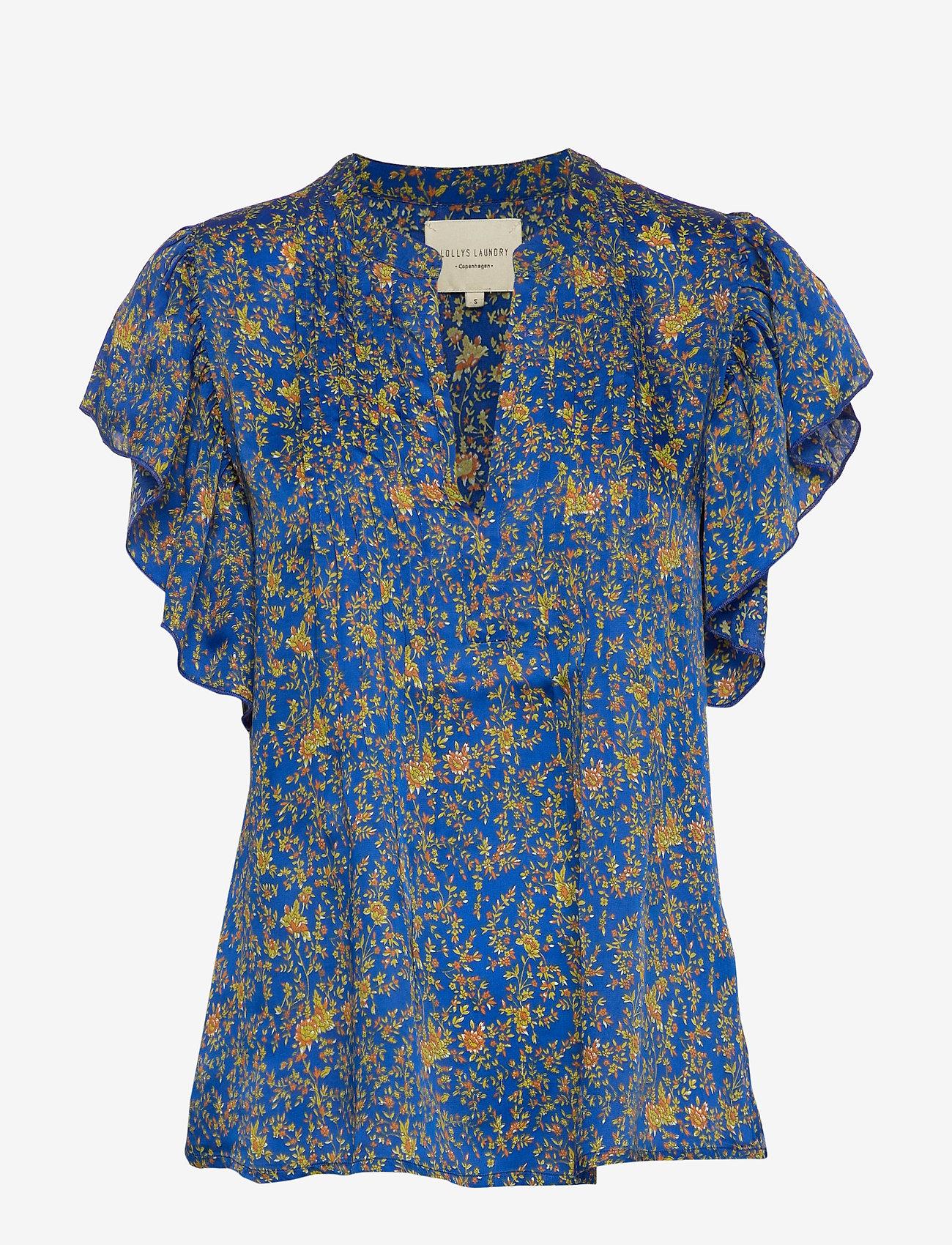Lollys Laundry - Isabel Top - bluzki krotkim rekawem - neon blue