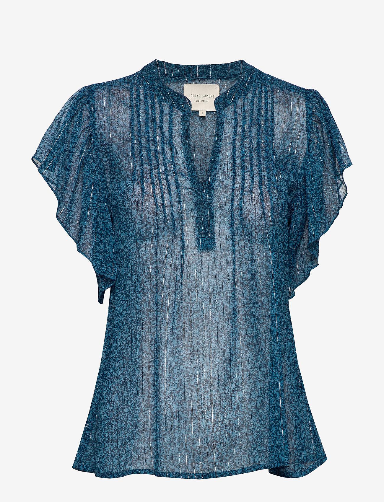 Lollys Laundry - Isabel Top - bluzki krotkim rekawem - petrol