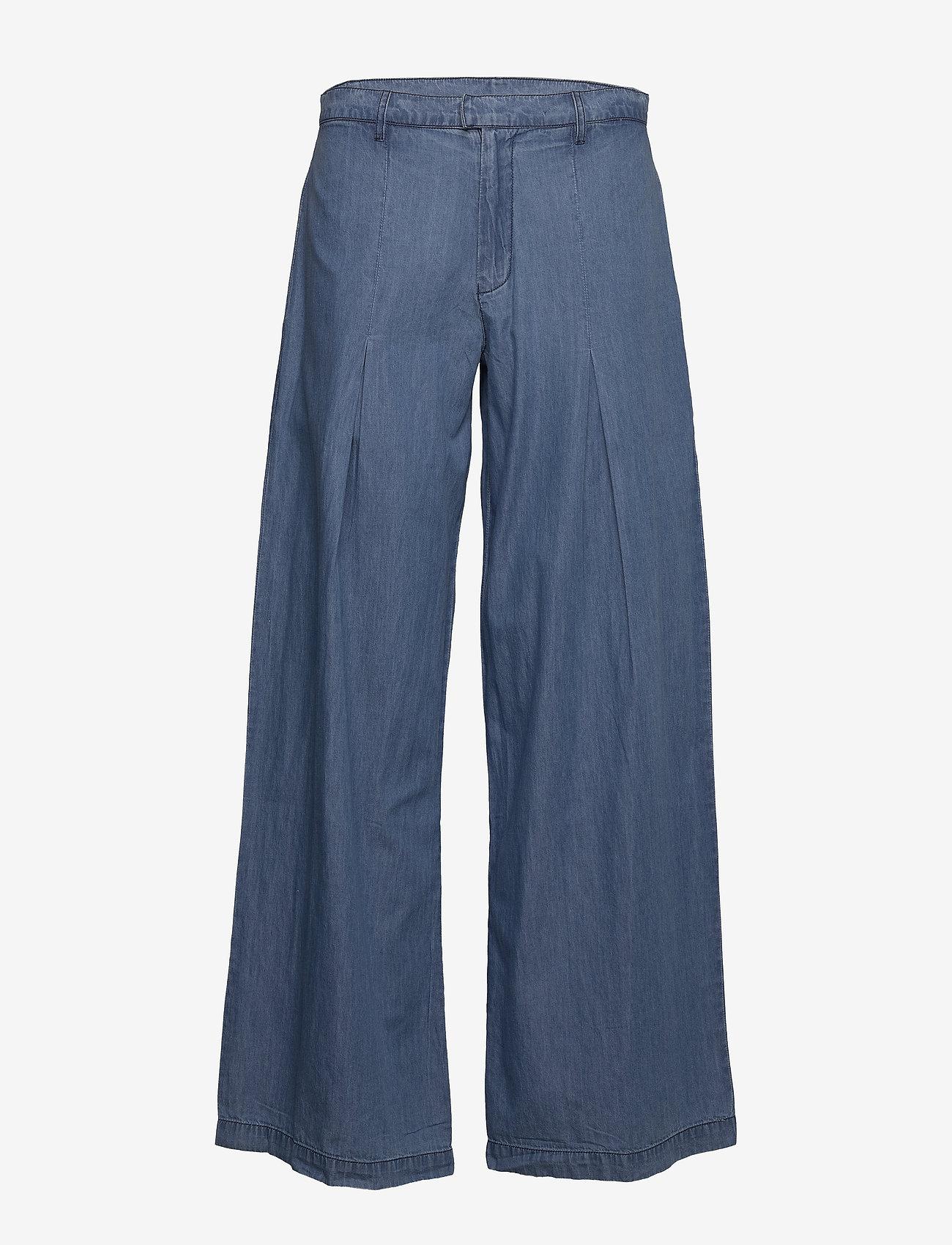 Lollys Laundry - Hay Pants - broeken met wijde pijpen - blue - 0