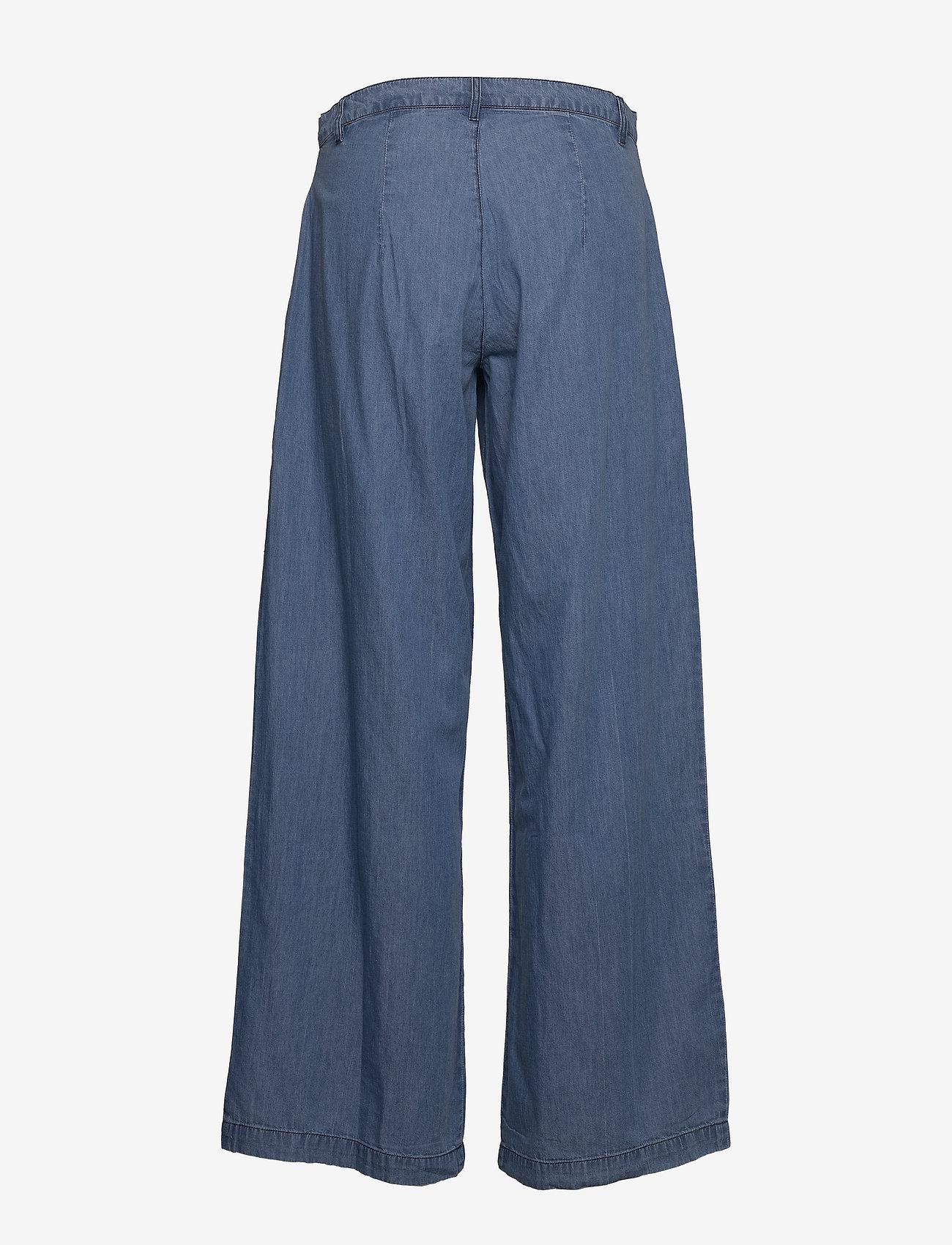 Lollys Laundry - Hay Pants - broeken met wijde pijpen - blue - 1