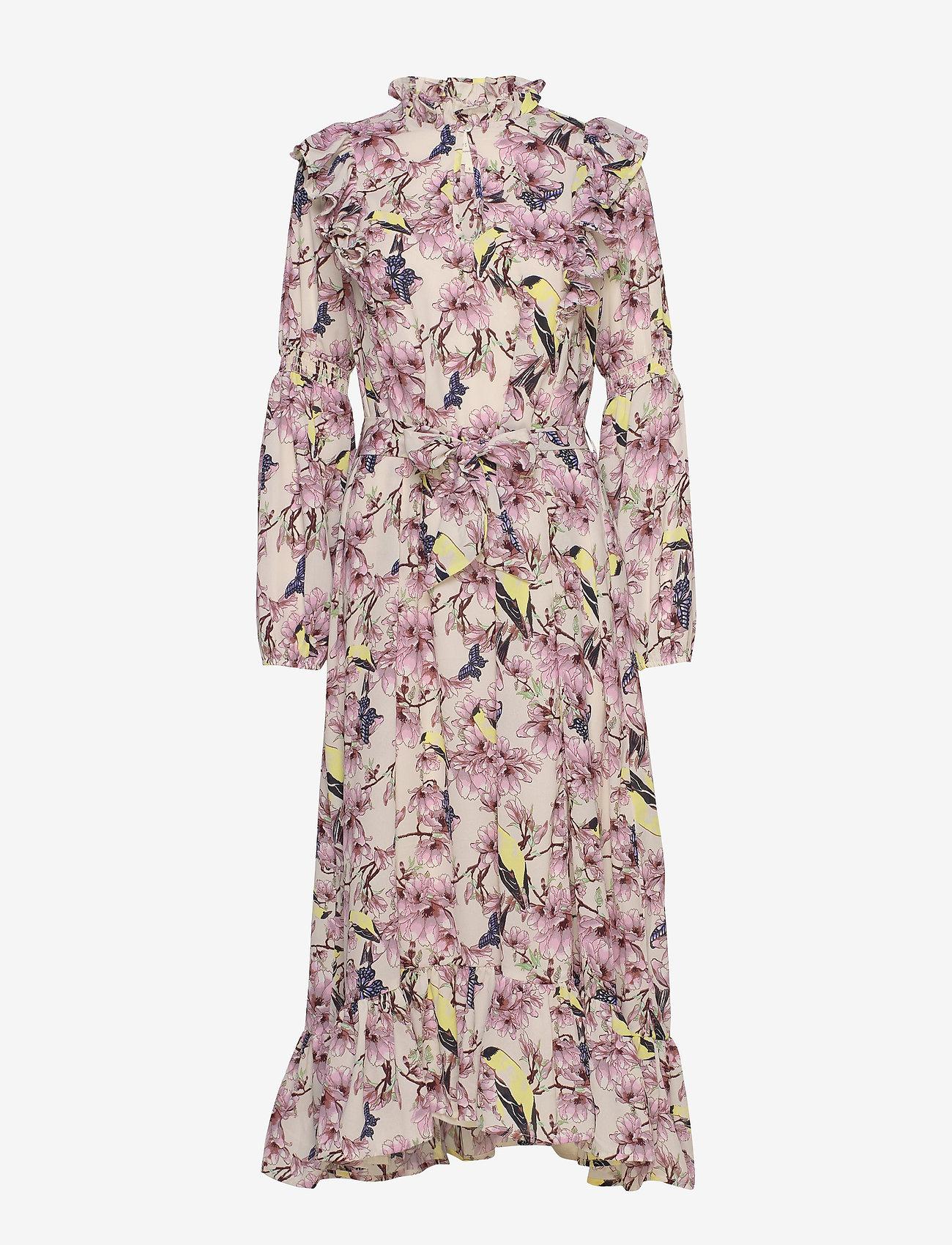 Lollys Laundry Sanni Dress - Sukienki FLOWER PRINT - Kobiety Odzież.