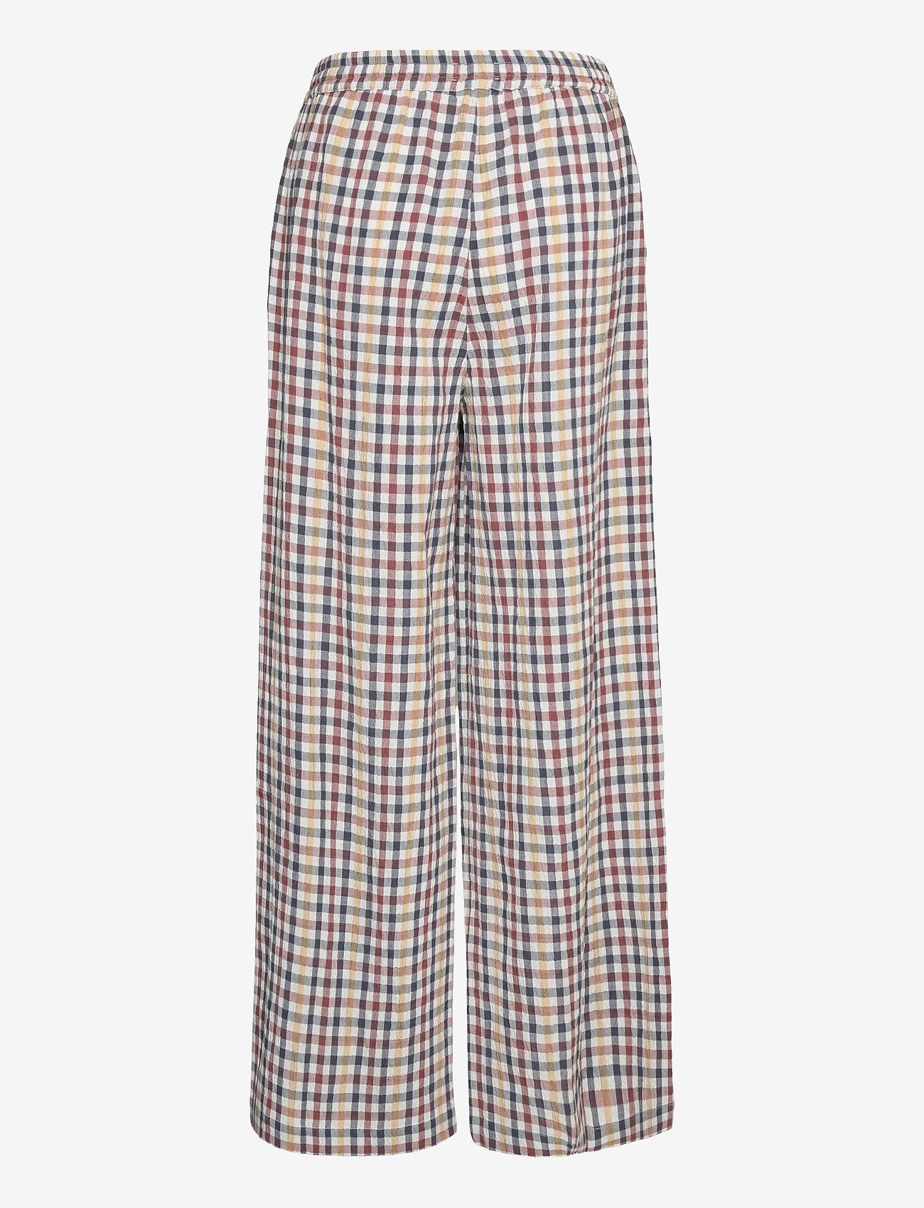 Lollys Laundry - Liam Pants - bukser med brede ben - check print - 1