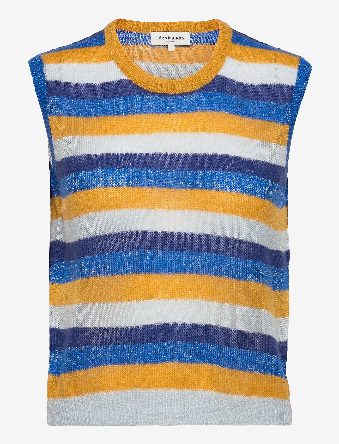 Lollys Laundry - Boho Vest - vestes tricot - 20 blue - 0