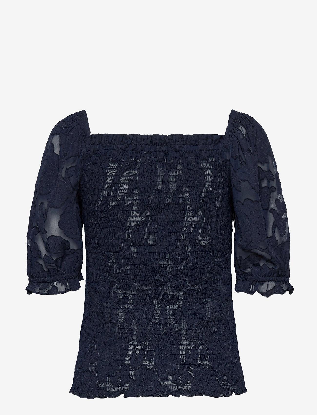 Lollys Laundry - Honey Top - blouses à manches courtes - 23 dark blue - 1