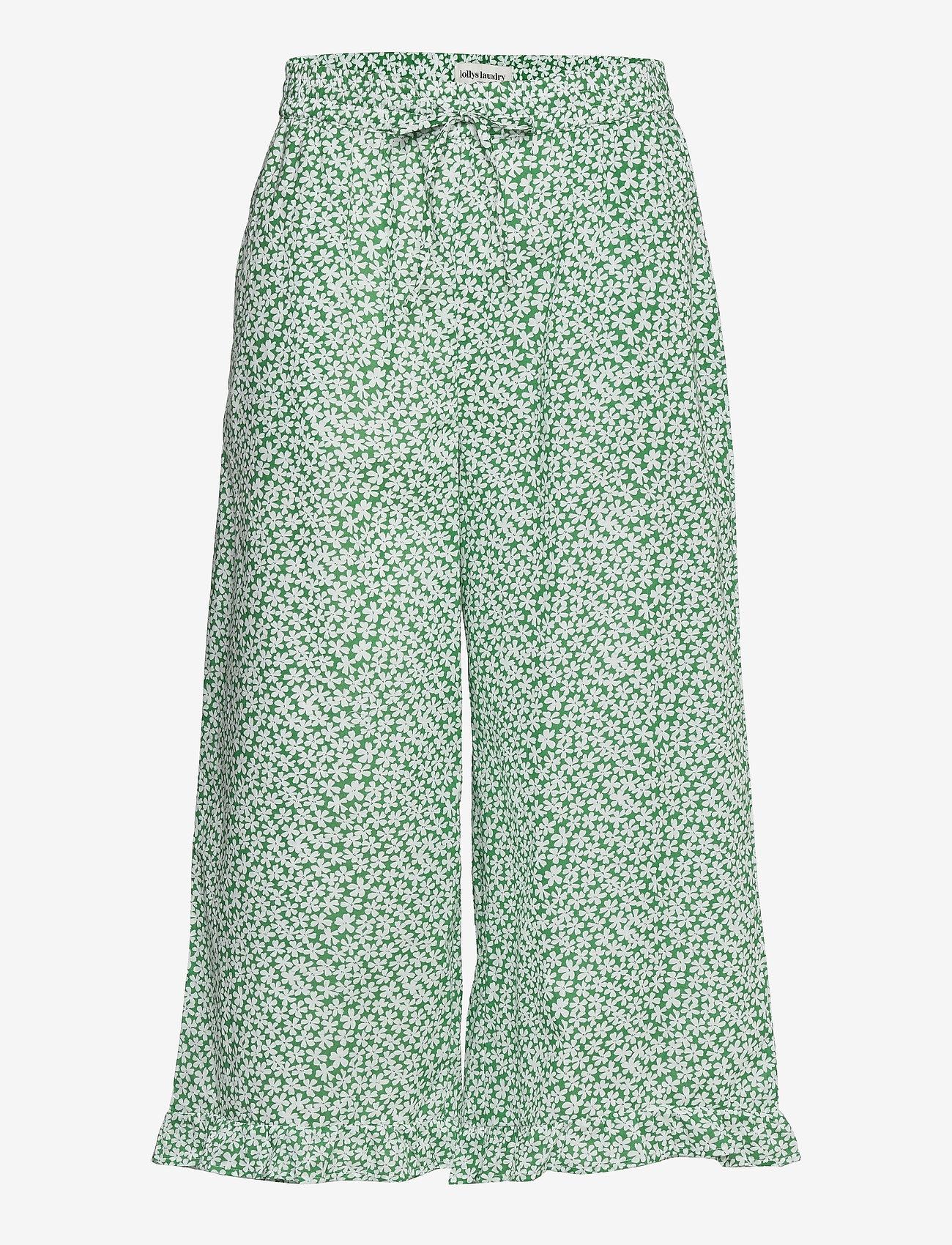 Lollys Laundry - Estrid Pants - bukser med brede ben - green - 0