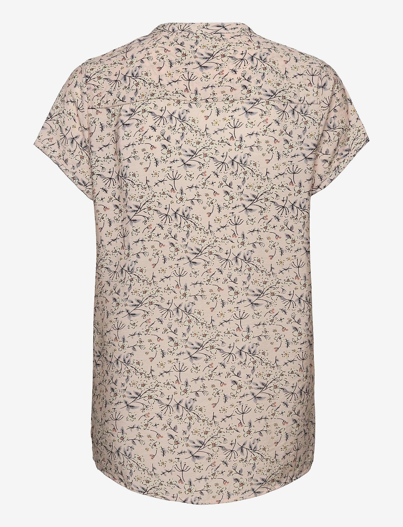 Lollys Laundry - Heather Top - kortærmede bluser - nude - 1