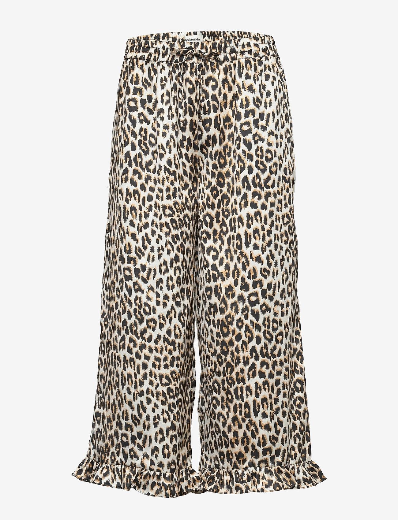 Lollys Laundry - Estrid Pants - bukser med brede ben - leopard print - 0