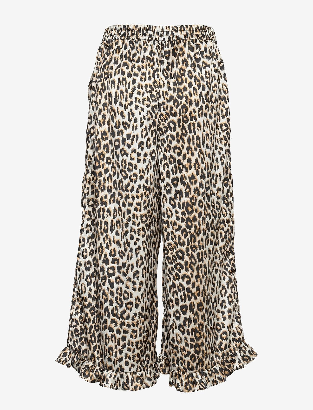 Lollys Laundry - Estrid Pants - bukser med brede ben - leopard print - 1